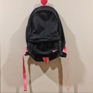 Nike Black with Pink Zipper Backpack